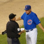 Cubs manager Lou Piniella takes umbrage